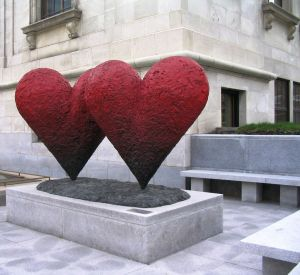 hearts sculpture
